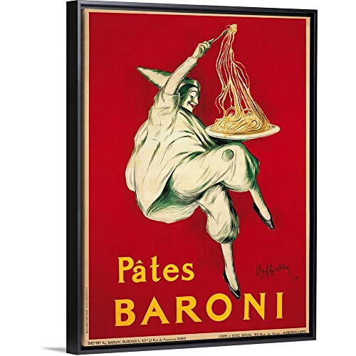 "Pates Baroni, 1921"" Black Floating Frame Canvas Art, 32""x42""x1.75"""