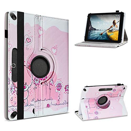 UC-Express kompatibel für Medion Lifetab X10313 Tablet Hülle Tasche Schutzhülle Cover 360° Drehbar, Farbe:Motiv 4