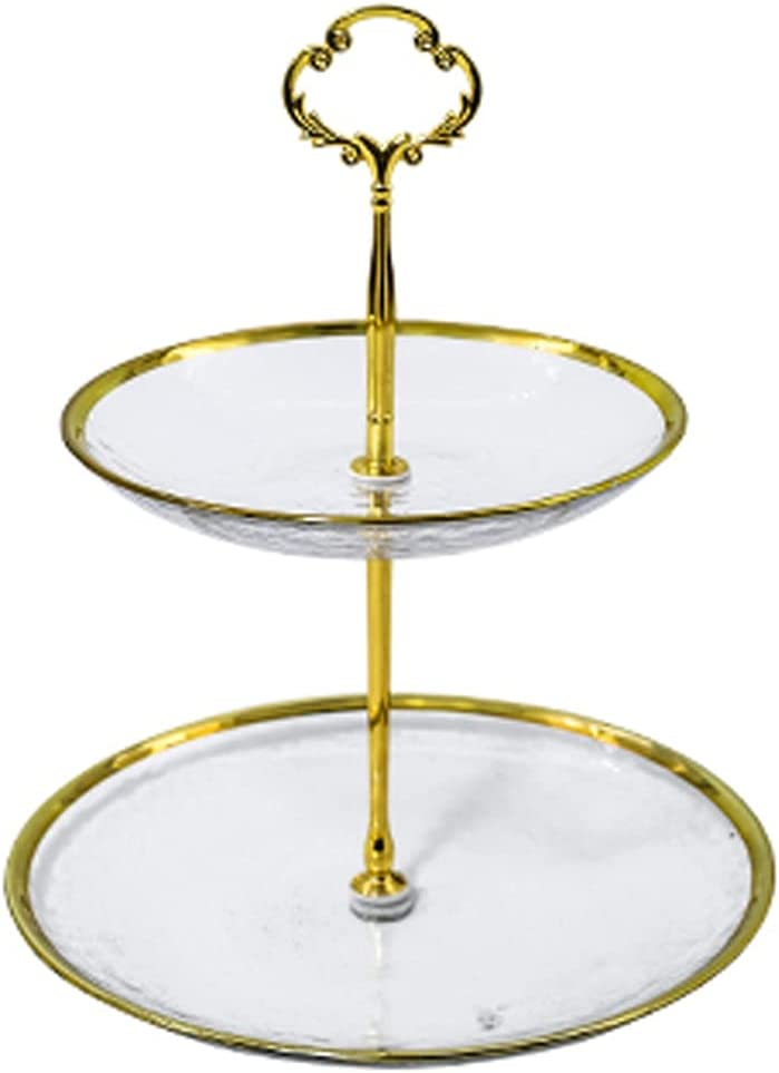 Cupcake Holder Popular Free shipping brand in the world Light Luxury Cake Stand Display Simple Glass