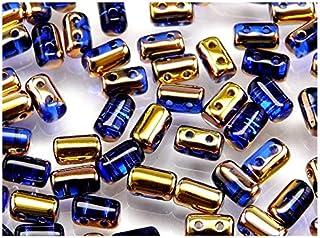 Cuentas de Vidrio prensado checo en Forma de un Rodillo con Gran Agujero Estrella Pony Beads 5.5mm Pastel White 50 Piezas