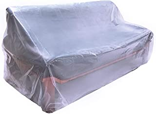 HGMart Plastic Sofa Couch Cover 5.5 Mil Extra Thick Furniture Cover Pet Dog Cat Protector Furniture Bag Waterproof Dust-Proof for Moving Protection and Long Term Storage(Sofa