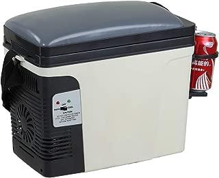 SMETA 12V Thermoelectric RV Car Cooler Warmer Portable Mini Truck Refrigerator 110V Office Home Food Heater Beverage Cooler Fridge,6L