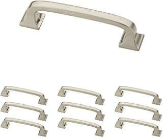"Franklin Brass P29521K-SN-B 3"" (76mm) Pull with Square Feet, 3 inch/10 Piece, Brushed Nickel, 10"
