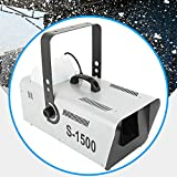 Munsinn Stage Snow Machine Snowflake Maker Stage Show Flake Effect Maker with Controller 110V (1500W)
