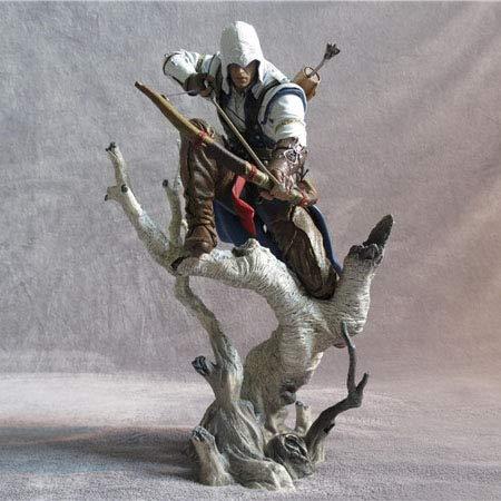 JINGLU Figura De Acción Assassin'S Creed 3 Archery King Estatua Modelo De Personaje Juguete Anime PVC Figura De Colección Papel Muñeca Juguetes Regalo para Adultos Y Fanáticos del Anime 26CM