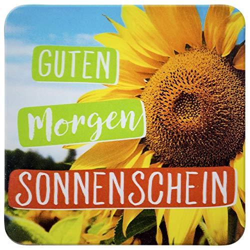 Sheepworld - 45848 - Untersetzer, 3D, Guten Morgen Sonnenschein , B24, Kork, 9,5cm x 9,5cm