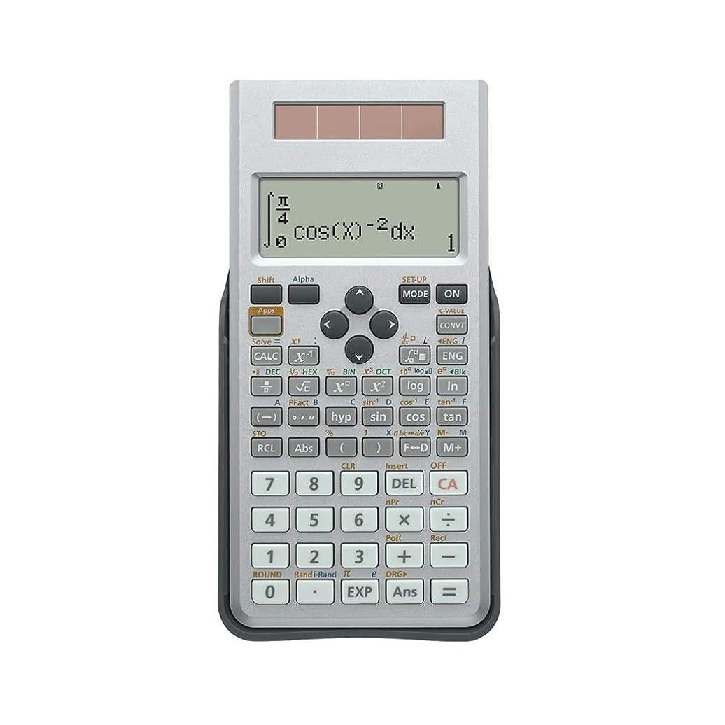 各有能な保持する学生試験科学機能LED HD 4グリッド表示デュアルパワー多機能電卓高校電卓