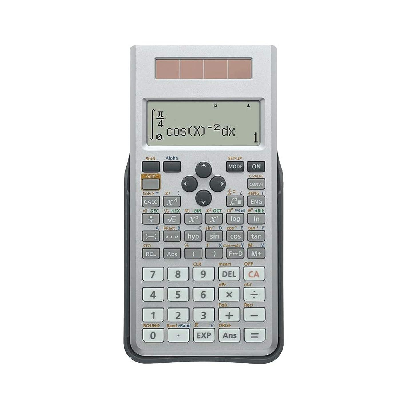 不十分なコンペおんどり電卓 学生 試験 科学機能 LED HD 4グリッドディスプレイ デュアルパワー 多機能電卓 高校電卓 オフィス