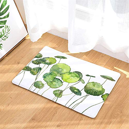 Rongpona Teich Lotus Leaf Türmatte, Indoor Outdoor Teppich Türmatte Super Absorbent Dirt Dirt Catcher Bodenmatte