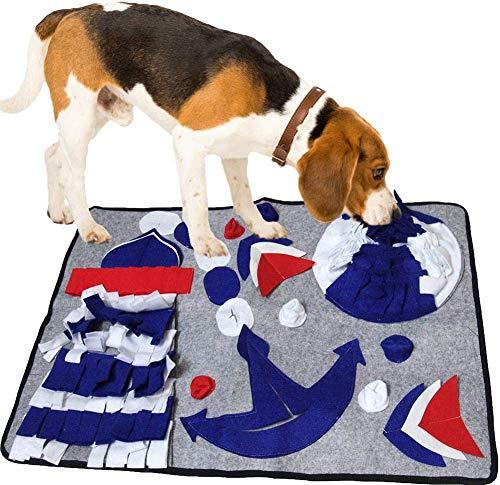 senyouth Dog Snuffle Mat, Puzzle Dog Feeding Snuffle Mat für Amell Training Nose Work Blanket und Stressabbau, Home Durable Hundefutter Bowl Mat, Interaktives Hundespielzeug, Wiederverwendbar Waschbar