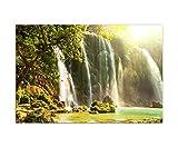 Paul Sinus Art 120x80cm - WANDBILD Vietnam Wasserfall Natur