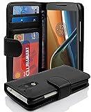 Cadorabo Funda Libro para Motorola Moto G4 / G4 Plus en Negro ÓXIDO - Cubierta Proteccíon con Cierre Magnético e 3 Tarjeteros - Etui Case Cover Carcasa