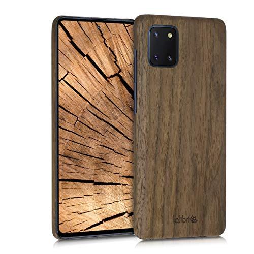 kalibri Cover Compatibile con Samsung Galaxy Note 10 Lite in Legno Naturale e aramide - Wooden Case Porta-Cellulare Rigida - Custodia Protettiva Ultra-Slim