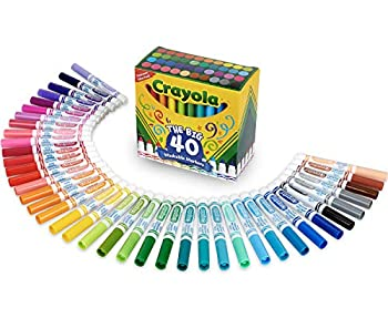 Crayola Ultra Clean Washable Markers Kids Indoor Activities At Home Broad Line 40 Classic Colors
