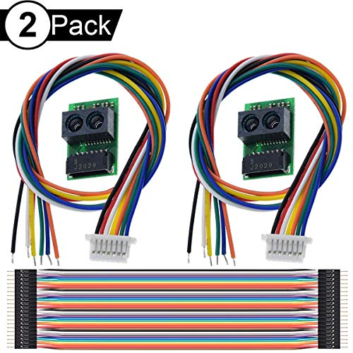 Youmile 2Pack Distance Sensor Module GP2Y0E03 Infrared Ranging Sensor 4-50CM I2C Output For Arduino With M-M Dupont Cable 20PIN