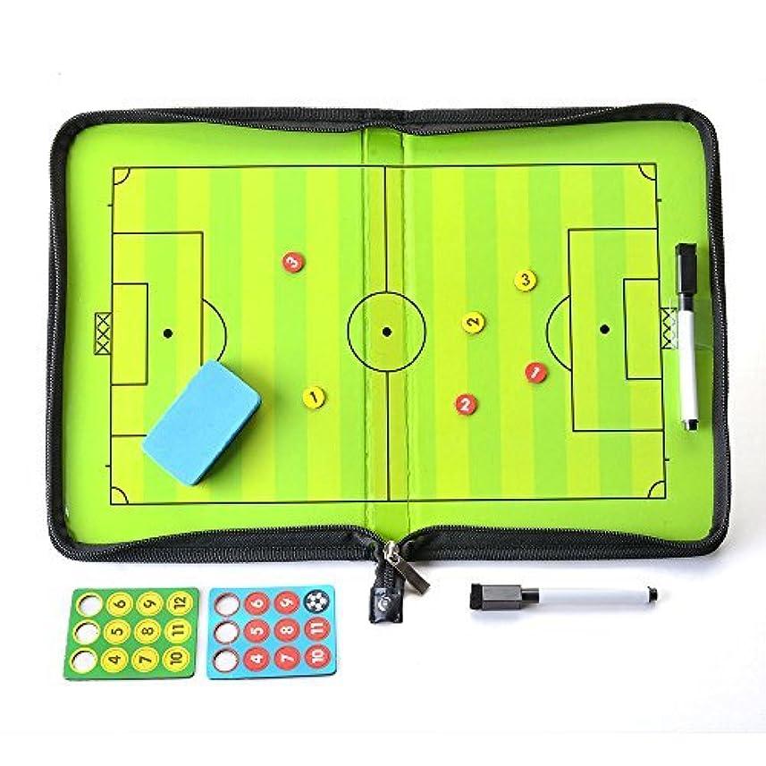 王女傀儡ファイバAGPTEK サッカーボード 作戦盤 コーチ マグネット 戦略/指導など 専用ペン付き ファスナータイプ