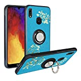 Alapmk Case for Huawei Y6 2019 /Honor 8A /Y6 Prime 2019, [Pattern Design] with Kickstand Fit Magnetic Car Mount, Shockproof TPU Protective Case Cover, Flower