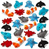 GREAT FOR KIDS - Older children and young toddlers will love these toys! Have your kids bring them to school to play with friends or use them for educational purposes when teaching about sea creatures. 24 PIECES - Kicko's assorted sea animal plush to...