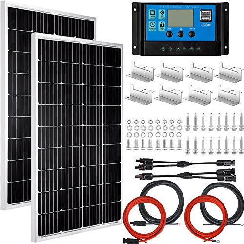 Pikasola Solar Panel Kit for RV Boat Home With Monocrystalline