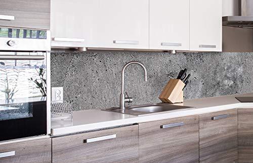 DIMEX LINE Paraschizzi Auto-Adesiva per la Cucina CALCESTRUZZO 260 x 60 cm   Resistente all'Acqua   QUALITA' Premium