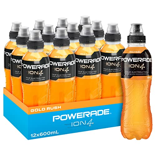 Powerade ION4 Gold Rush Sports Drink, 12 x 600 ml