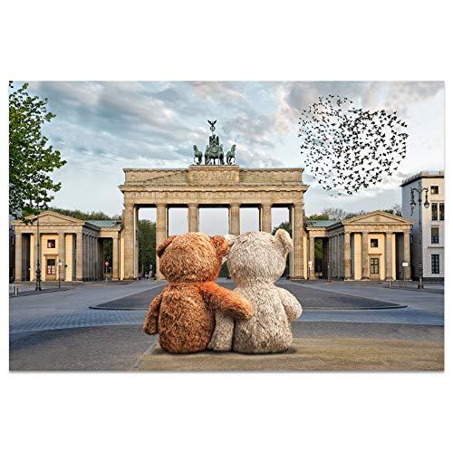 Ansichtkaarten +++ DIN A6 BERLIN motief: Brandenburger poort I stadhoeken I hoogwaardige kaarten I Leven & Momenten grappig I Ansichtkaarten Postcrossing I Geschenk I Geschenkidee