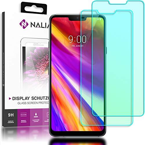 NALIA (2-pack) beschermend glas compatibel met LG G7 ThinQ, 9H Cover Screen Protector Glas-folie, dunne mobiele telefoon beschermer beeldscherm-afdekking, beschermfilm Screen Protector gehard glas - Transparant