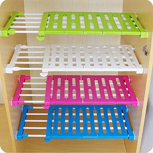 Estante de almacenamiento para cocina PDFans, ajustable, armario y estantería que se extiende, plástico abs, Random, 30-40CM