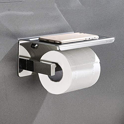 AOIWE Tenedor de Papel higiénico sin Problemas Montado en la Pared Portátil Auto Adhesivo Tenedor de Papel higiénico Titular de Tejido de baño para baño Baño Organizadores Estante