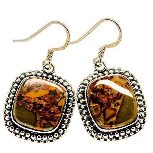 Ana Silver Co Chert Breccia Earrings 1 3/8' (925 Sterling Silver)