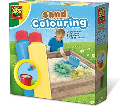 SES Creative - 02212 - Coloriage du sable bleu-jaune