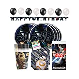 Hello Party! Star Wars Birthday Party Supplies for 16, Star Wars Birthday Decoration, Star Wars Party Decorations, Star Wars Party Supplies, Plates, Napkins, Tableware, Cups, Hanging Banner, Balloons