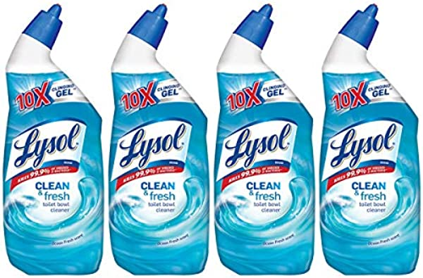 Lysol Clean Fresh Toilet Bowl Cleaner Ocean Fresh 24 Oz Pack Of 4