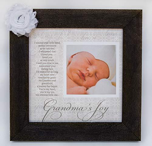 Grandmas Joy Picture Frame with Poetry - Barnwood
