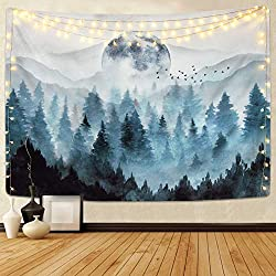 Misty Forest Tapestry  wall decoration