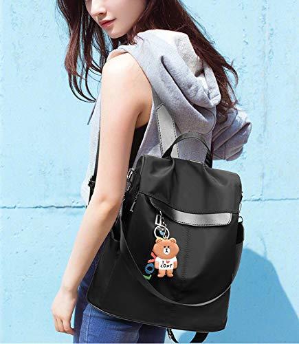 513HmG1a0bL - Mochila de las mujeres antirrobo impermeable mochila casual monedero de cuero de la PU bolsa de hombro de la escuela ligera