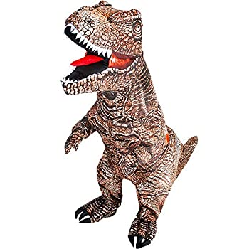 KOOY Inflatable Costume T-REX Dinosaur Costume For Adult Fancy Costume Halloween costumes blow up costumes for adults