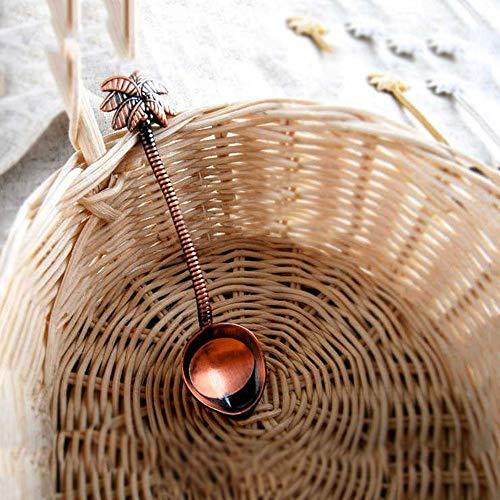GYJWSBAW 1 stks Mini Leuke Vintage koninklijke stijl Kokos Boom Thee Koffie Lepel Ijs Kleine Decoratie Zine Legering Gift voor Bar Party Hot