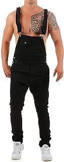 Men's Denim Pants Casual Retro Cargo Combat Dungarees Dungarees Comfortable Sizes Stonewash Jeans Jumpsuits 2020 Men's Clo...