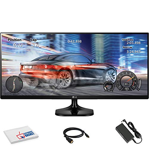 "LG 25UM58-P 25"" 21:9 UltraWide IPS Monitor (25UM58-P) with HDMI Cable and Microfiber Cleaning Cloth"