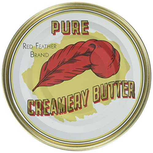 Red Feather Cremery Canned Butter A real butter from new Zealand-100% pure no artificial colors or flavors-Great For Hurricane Preparedness Emergency Survival Earthquake Kit-(6 Cans/12Oz. Each Can)