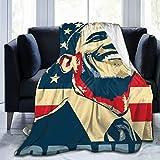 Dherrbr Barack Obama Poster Pop Art Blanket Ultra Soft Warm for 80'X60'