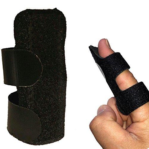 ばね指サポーター 指サポーター 突き指 腱鞘炎 関節痛 小指 薬指 親指 人差し指 手 固定 サポーター バスケ バレー 子供 大人 フリーサイズ (黒)