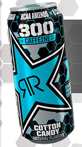 Rockstar XDurance Energy Drinks - 6, 16ounce Cans (Cotton Candy)