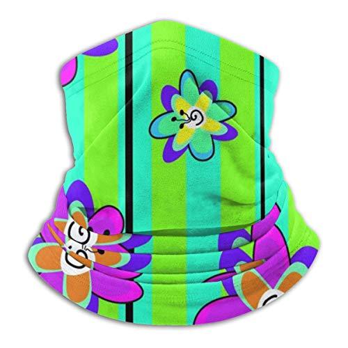 Archiba Bandana sans Couture Bandana de Fleurs et de Cou de Papillon