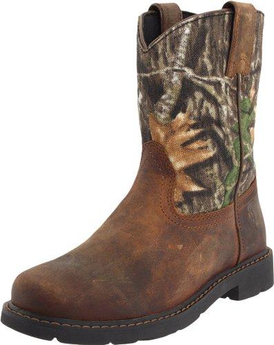 Kids' Sierra Western Boot, Distressed Brown/Camo, 8 M US Big Kid