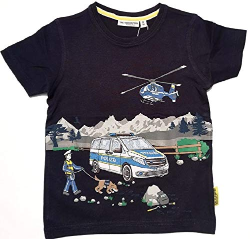 SALT AND PEPPER Jungen Police Uni Stick Print T-Shirt, Navy, 116/122