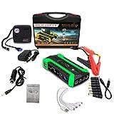 Arrancador portátil de 12 voltios para automóvil, 20000 mAh, refuerzo automático de batería de iones de litio con carga rápida, puerto tipo C y LED, energía para el hogar, emergencia para el automóvil