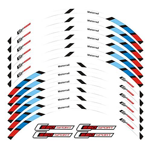 YINZHI Nueva Calidad 12 PCS Pegatina de la Rueda de la Rueda de la Rueda de la Rueda de la Raya Reflectante Fit para BMW C650 Sport (Color : 2)