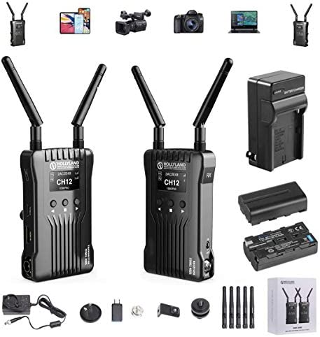 Hollyland Mars 400S Wireless SDI HDMI Video Transmission System iOS Android App Monitoring with product image